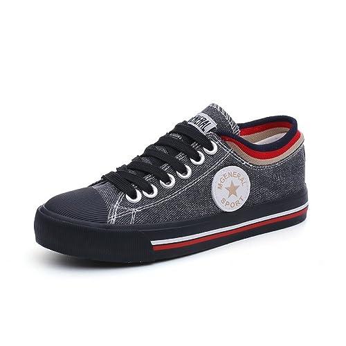 82e85b9135c38 Amazon.com | Women's Low Top Classic Canvas Fashion Sneaker ...