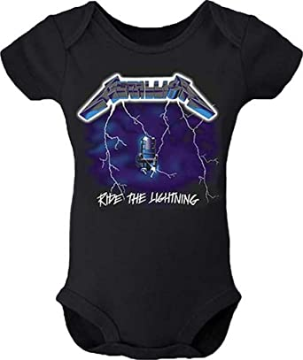 9898a6ab89c Metallica Ride The Lightning Baby Romper T-Shirt  Amazon.co.uk  Clothing