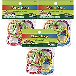 (3 Pack) WARE Carnival Crops Chew Rings Small Animal Toys, 18 Toys Total / 6 per Package