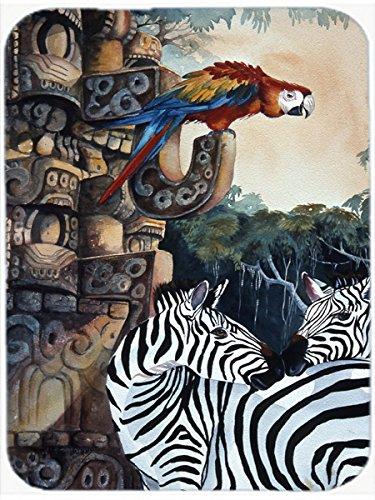 Caroline's Treasures Zebras & Parrots Mouse Pad/Hot Pad/Trivet (JMK1200MP)