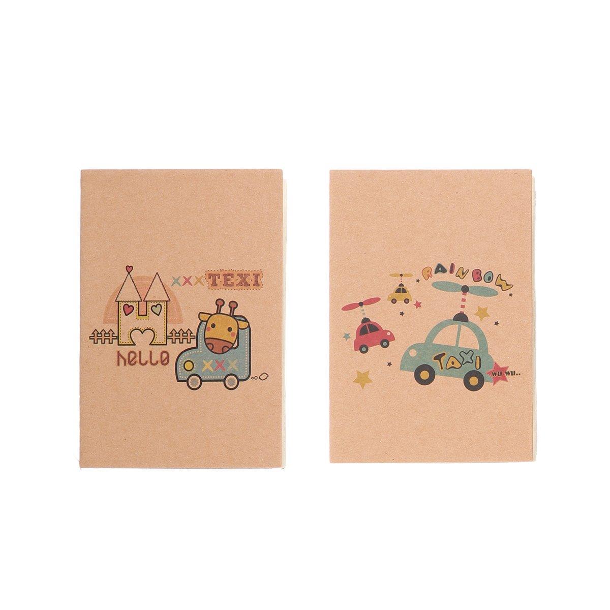Serie Black Cat NUOLUX mini taccuino blocnotes bambini quaderno marrone bianco dentro Notebook