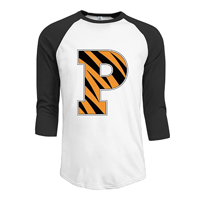 detailing f361f 5fe36 Men Princeton Tigers P Athletic Jersey Logo 3/4 Sleeve ...