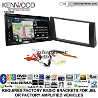 Volunteer Audio Kenwood Excelon DNX694S Double Din Radio Install Kit with GPS Navigation System Android Auto Apple CarPlay Fits 2002-2006 Toyota Camry with Amplified System
