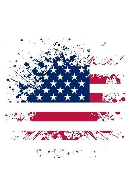 fd6319c5fa96 Amazon.com  American Flag - Abstract - Paint Splatter (16x24 Fine Art  Giclee Gallery Print