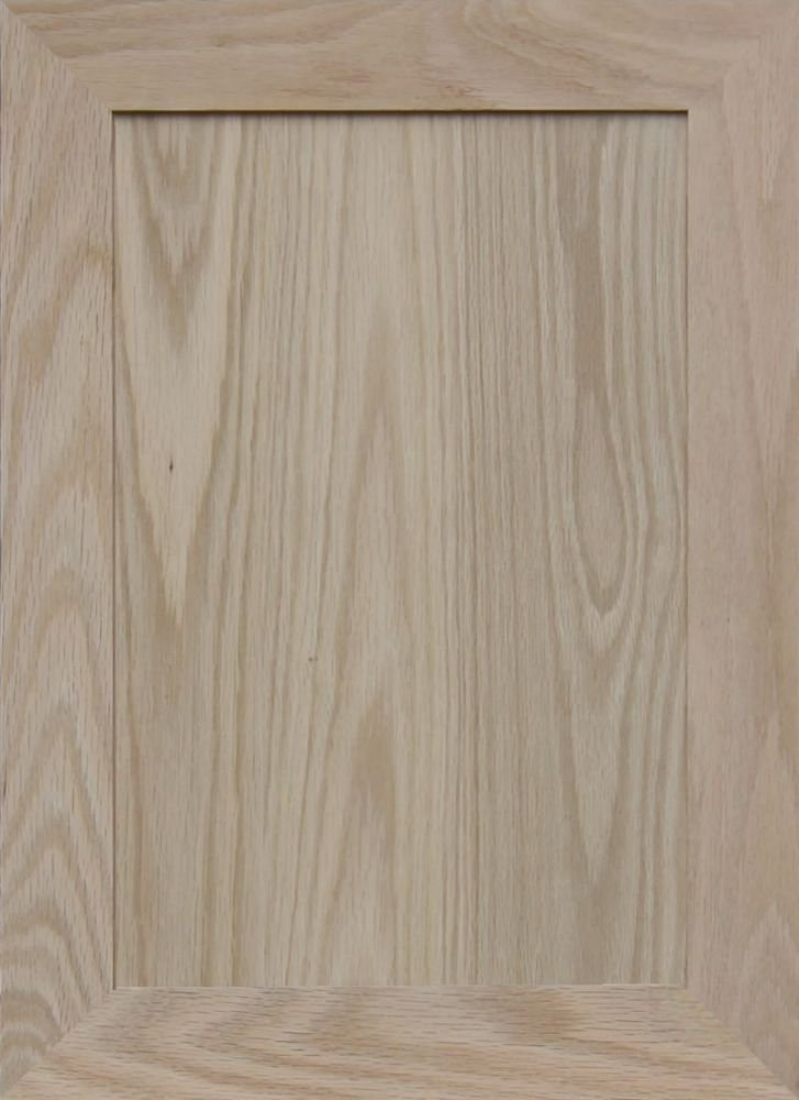 22H x 16W Mitered Raised Panel Cabinet Door by Kendor Unfinished Oak
