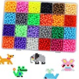 Wenasi DIY Art Crafts Toys Water Sticky Beads 24 Colors 4000 Beads Water Magic Beans Educational Gift for Children's day