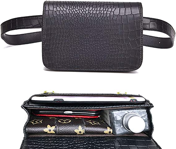 Mens PU Leather Fanny Pack Waist Bags Cell Phone Key Pouch Purse Clutch Wallet