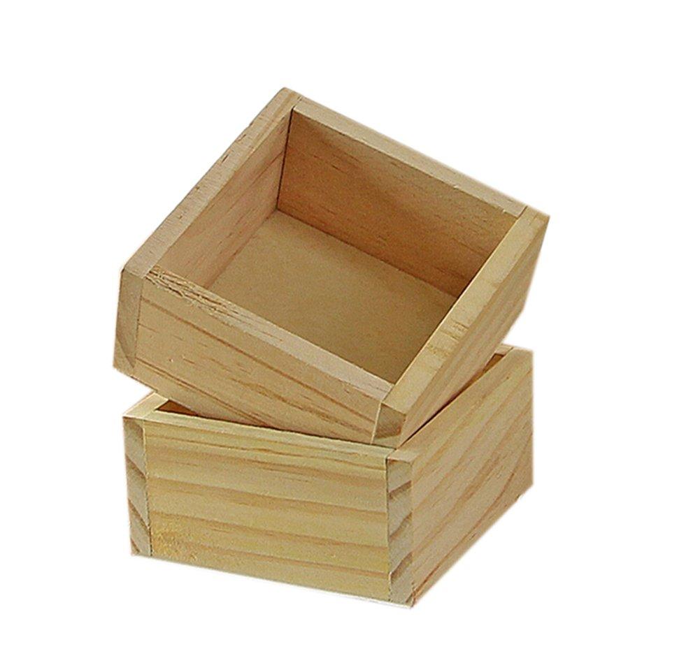Leisial Vintage Petite Boîte en Bois Mini Boîte de Rangement en Bois pour Bureau Stylo Crayon Clips Note et Papeterie(Couleur B) 25144314096Q9107