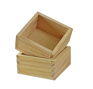 Westeng Plants Flower Pot Wooden Container General Storage Box Decoration Planter Desk Storage Case 2