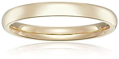 Amazon Com Standard Comfort Fit 14k Gold Wedding Band 4mm Jewelry