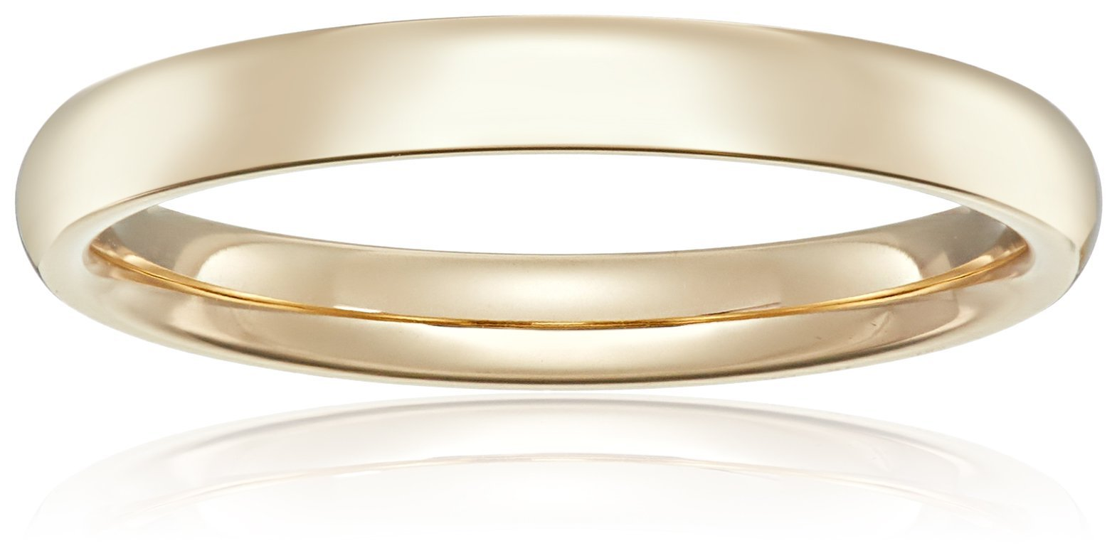 Standard Comfort-Fit 14K Yellow Gold Band, 5mm, Size 8