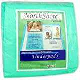 NorthShore Premium, 36 x 36, 40 oz., Green Super-Absorbent Underpads (Chux), Ultra Large, Case/60 (6/10s)