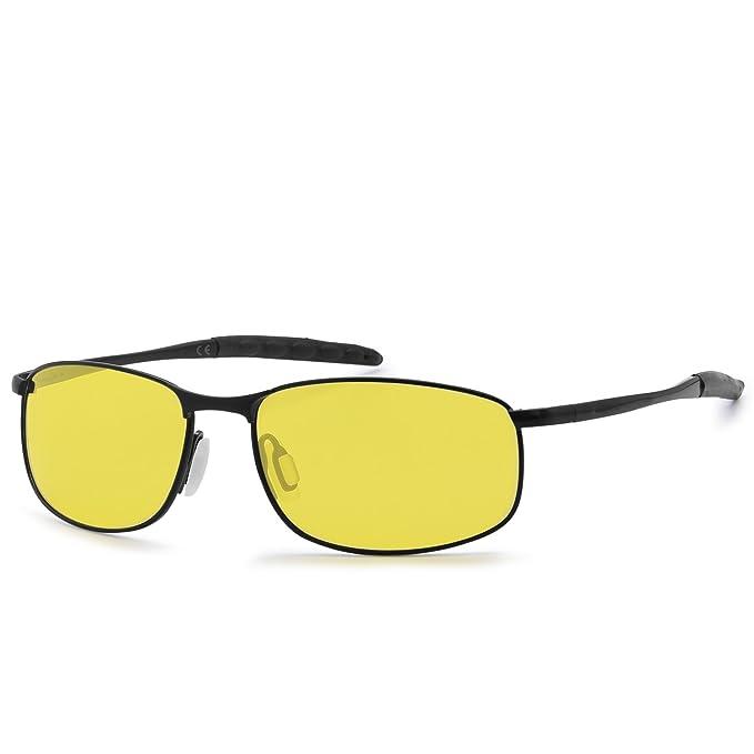 AMZTM Gafas Deportivas Para Hombre Marco De Metal Rectangular Gafas De Sol Polarizadas Para Ciclismo Gafas