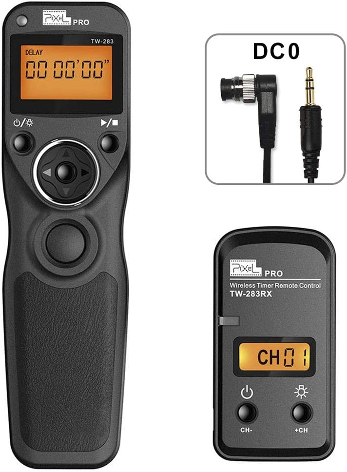 PIXEL TW-283/DC0 Mando a Distancia Disparador inalámbrico Temporizador Cable Disparador para Nikon cámaras