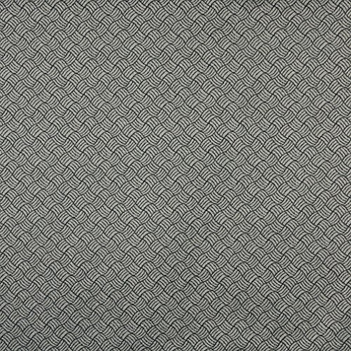 (F760 Black and Silver Geometric Heavy Duty Crypton Commercial Grade Upholstery Fabric by The Yard)