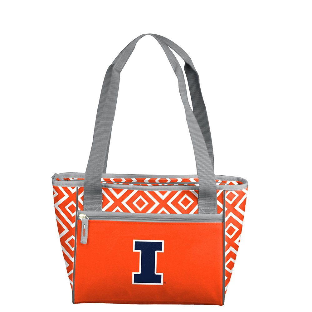 NCAA Illinois 16 Can Cooler Tote, One Size, Multicolor