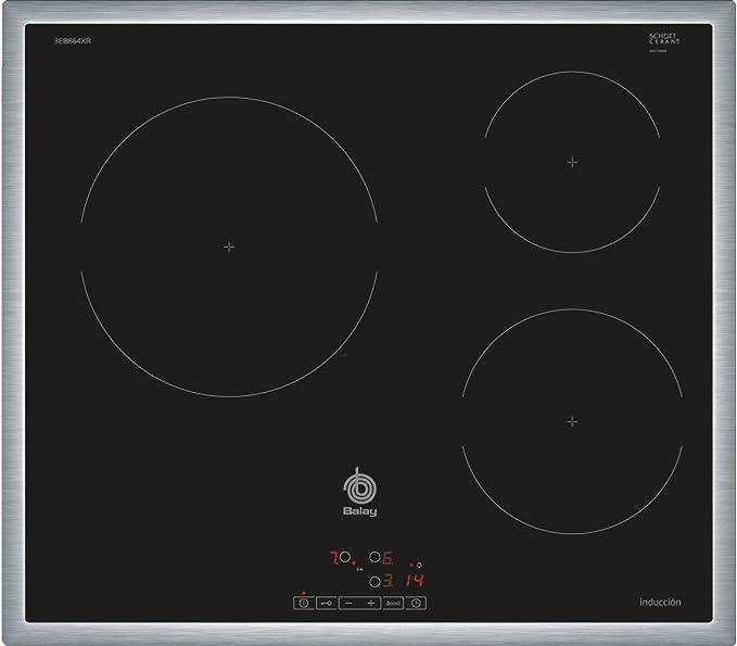 Opinión sobre Balay 3EB864XR hobs Negro Integrado Con - Placa (Negro, Integrado, Con placa de inducción, Vidrio, 1400 W, 15 cm)