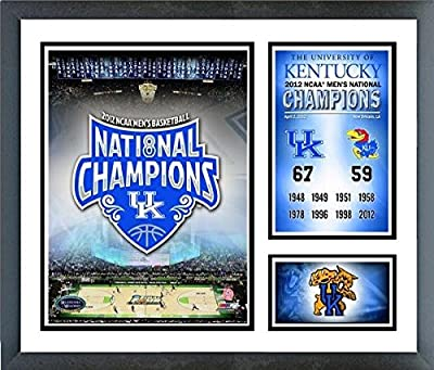 "Kentucky Wildcats 2012 NCAA National Champions Photo Collage (Size: 12.5"" x 15.5"") Framed"