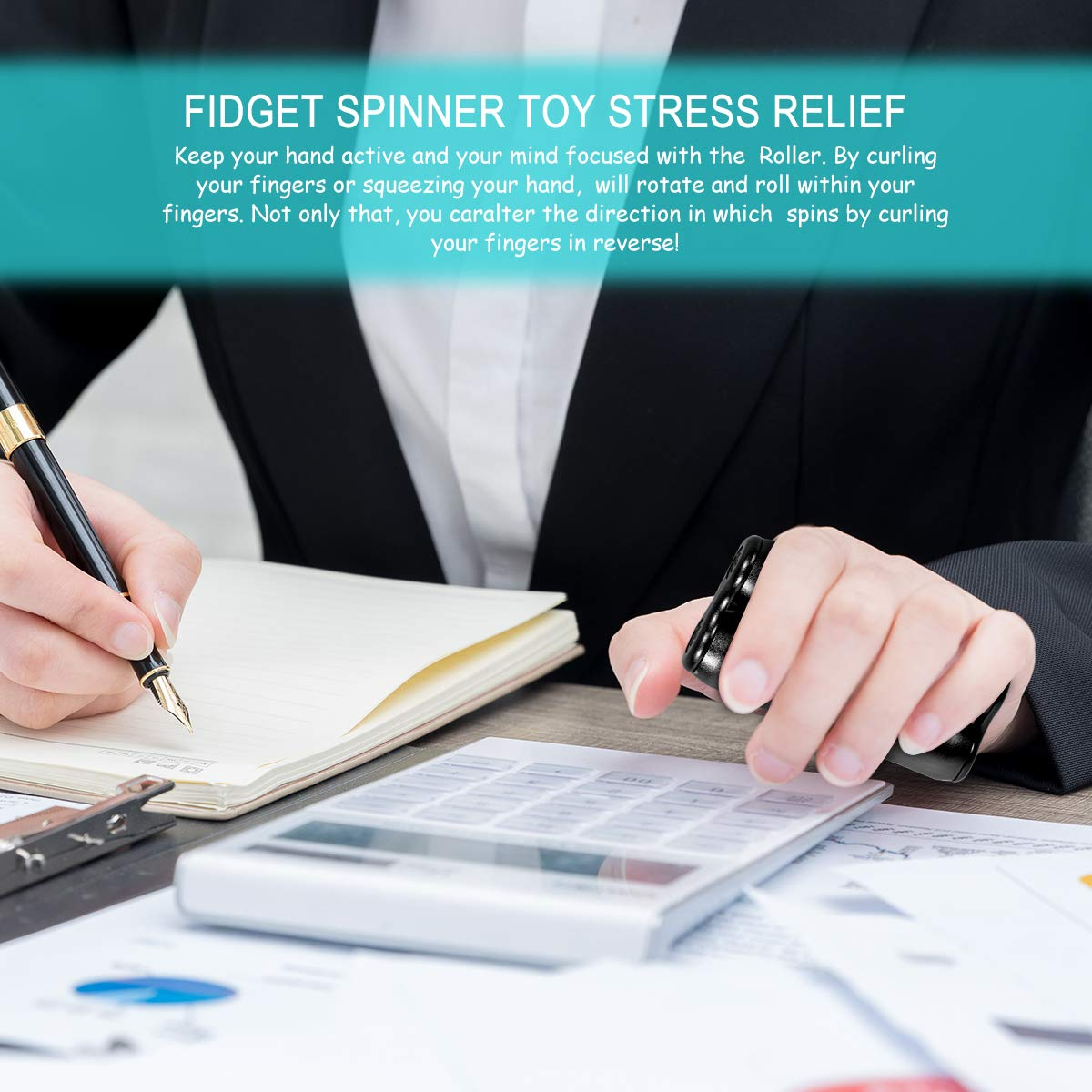 MuD-A Anti-Anxiety Toys,Handheld Fidget Toy for Adults,Relieving Stress Boredom ADHD Autism,Easy to Carry and Use (Black) by MuD-A (Image #6)