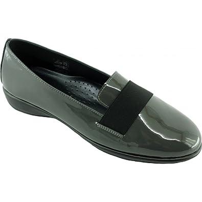 bb62b0447ae53c Aerobics Danish Slippers Très Souple Semelle Antidérapante Chaussures  Confort Femme Pieds Sensibles Marque Cuir Vernis Gris