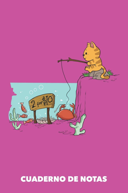 Cuaderno de Notas: Cebo para gatos A5 en blanco - 120 ...