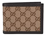Gucci Men's Canvas GG Guccissima Trifold Passcase ID Wallet (Beige/Brown)