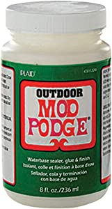 Mod Podge Waterbase Sealer, Glue and Finish for Outdoor (8-Ounce), CS11220 Clear Finish