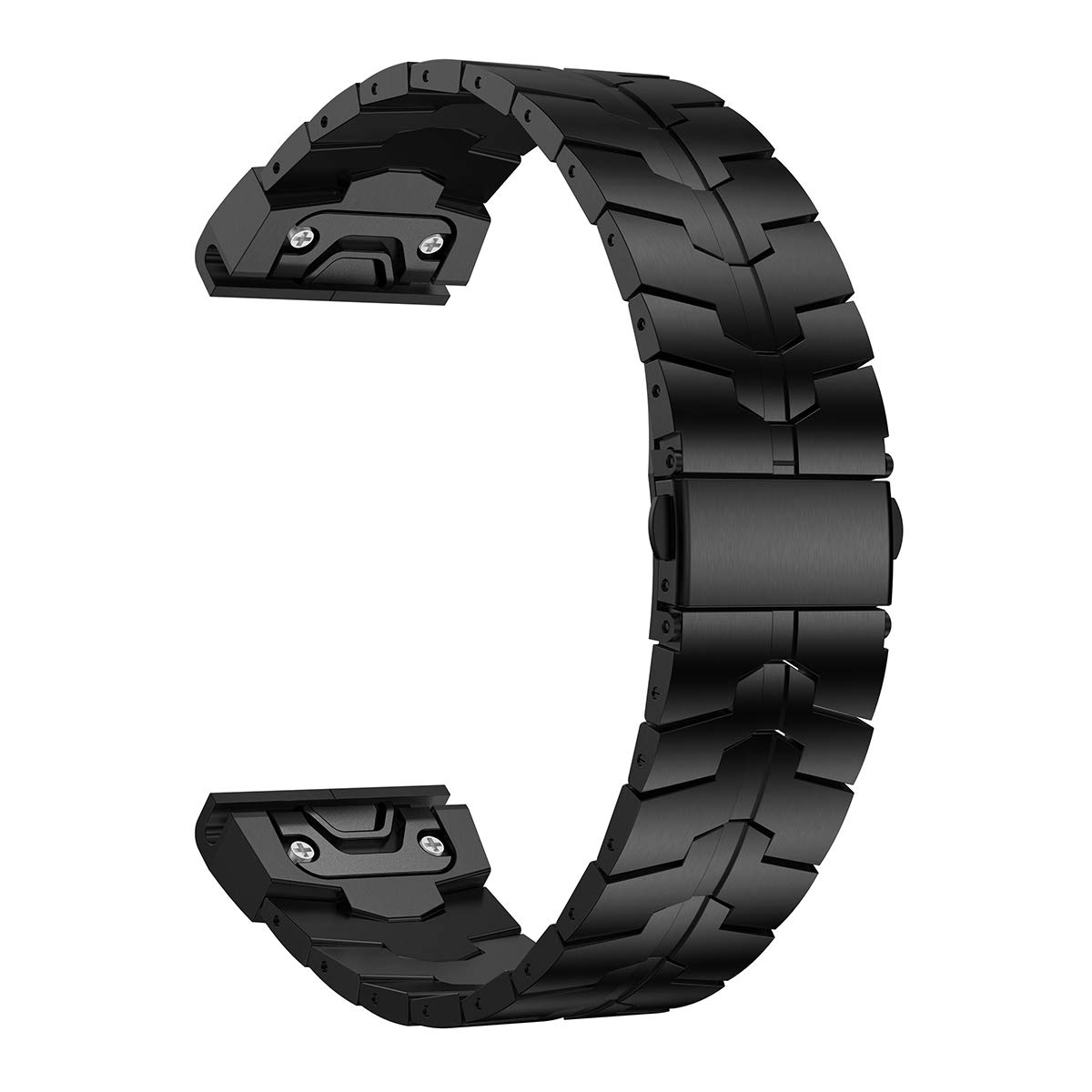 LDFAS Fenix 5/6 Band, 22mm Titanium Metal Quick Fit Watch Strap with Enhanced Durability Version Compatible for Garmin Instinct/Fenix 5 Plus/Fenix 6 Pro/Forerunner 935/945 Smartwatch, DLC- Black by LDFAS