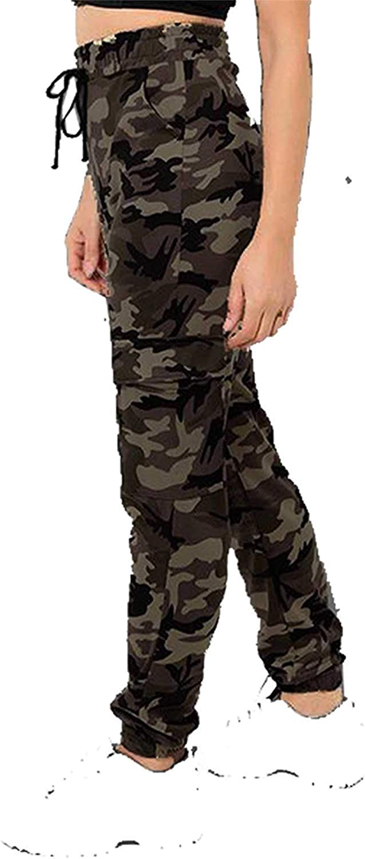 Xpose Ladies Camouflage Military Cuffed Leg Double Pocket Double Striped Cargo Combat Trousers Khaki Green Camo Charcoal Grey Camo Stone Grey Khaki Camo 8 10 12 14