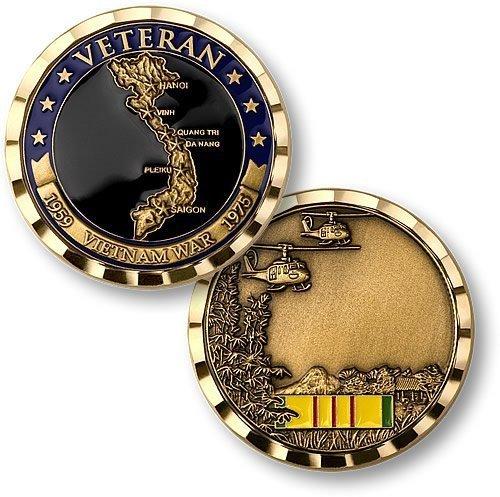 Vietnam Veteran Engravable Challenge Coin