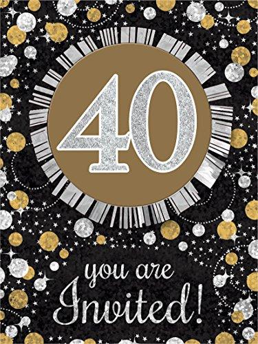 Sparkling Celebration 40 Invitations -
