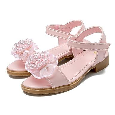 7bcde0f19eabba Weiße Sandalen für Mädchen Kinder Prinzessin Sandalen Sommer kleine Mädchen  Sandalen Spitze Perle weichen Boden Mode Schuhe Friesen  Amazon.de   Bekleidung