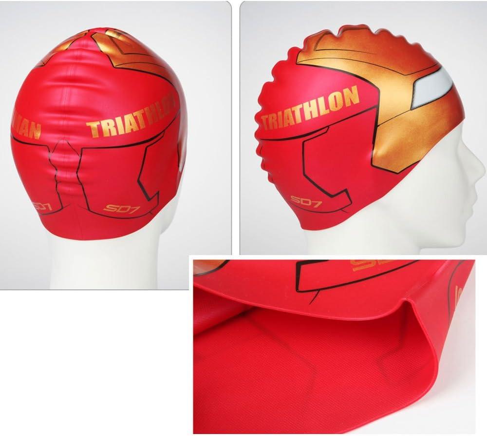 koreatrends Ironman - Gorro de Natación (Silicona), Fabricado en ...