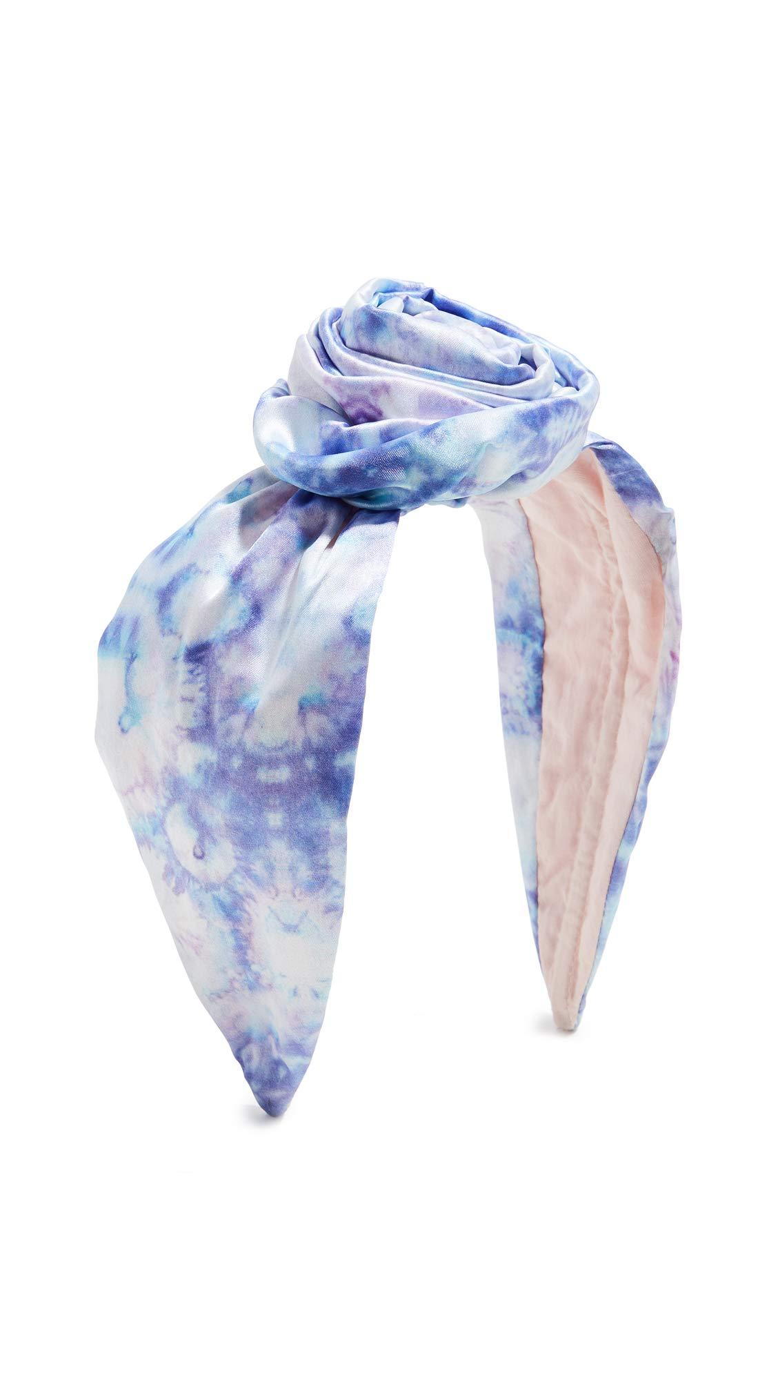 NAMJOSH Women's Tie Dye Bun Headband, Lilac/Blue Tie Dye, One Size by NAMJOSH