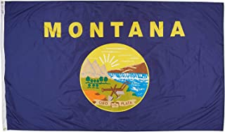product image for Annin Flagmakers Model 143180 Montana Flag Nylon SolarGuard NYL-Glo, 5x8 ft, 100% Made in USA to Official State Design Specifications