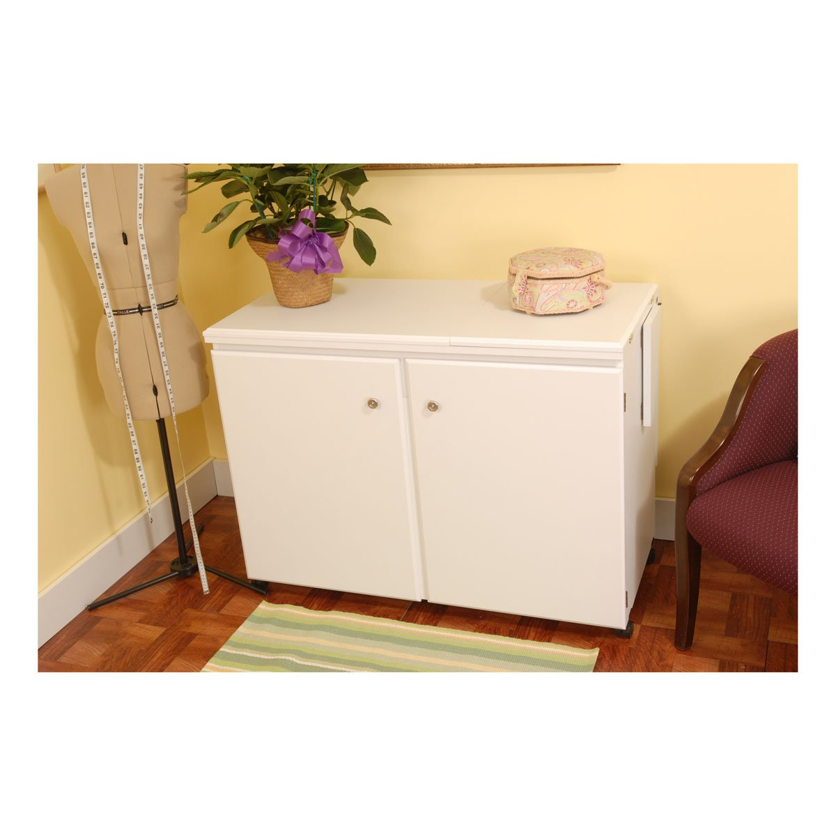 Amazon.com: Arrow Cabinet 98701 Bertha Sewing Cabinet, White