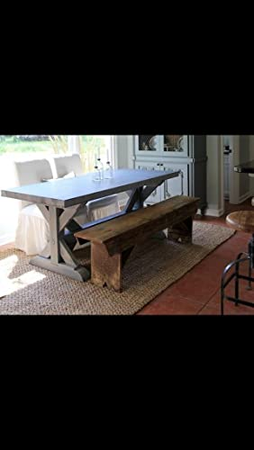 Zinc Top Farm Trestle Table
