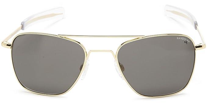 Amazon.com: Randolph Aviator anteojos de sol, Dorado, 52 mm ...