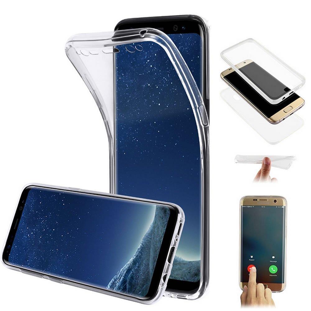 YSIMEE Cover Samsung Galaxy S6 edge, Xmas Decorazioni Natalizie Custodie Gel Trasparente Completa 360 Gradi Chiaro Puro TPU Silicone Shell Protettivo Morbida Ultra Sottile Gomma Cover