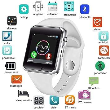 UTHDELD Smartwatch Smart Watch Hombres Mujeres Soporte SIM TF ...