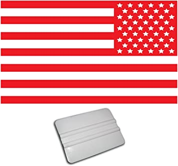 amazon com bamfdecals xx large 33 inch wide single color subdued american usa flag decal reversed red automotive bamfdecals xx large 33 inch wide single color subdued american usa flag decal reversed red