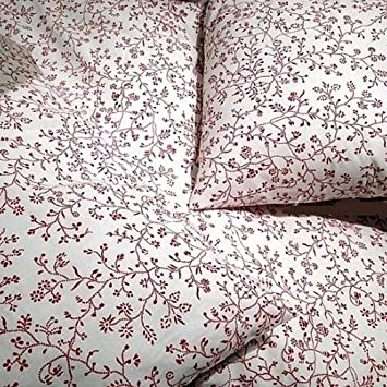 100% Cotton French Country Style Duvet Cover Set Full/queen Red Floral  Patterns on
