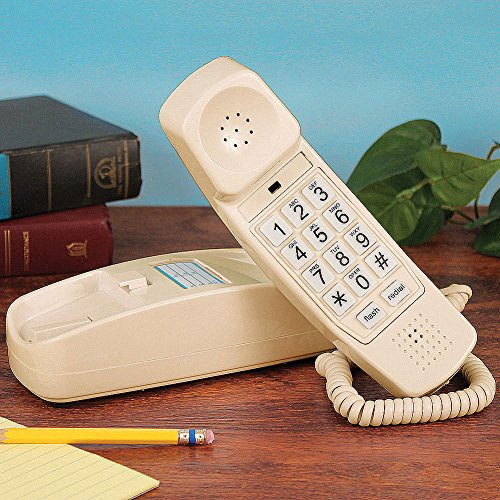 Golden Eagle GOLD-GE-5303-IV Trimstyle Corded Telephone, Ivory by Golden Eagle (School Ringer Old)