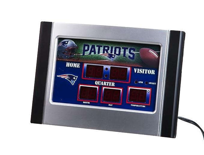 Amazon.com: NFL New England Patriots Logo Marcador Alarma ...