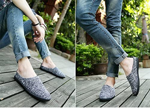 メンズ 通気性抜群 メッシュ スリッポン サボ サンダル カジュアル シューズ 靴 スニーカー 麻入り 通気性 大きいサイズ