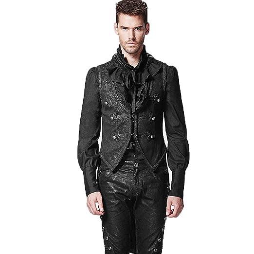 esikatselu monia muodikkaita erilaisia muotoiluja PunkRave Gothic Vest Waistcoat Designer Stylish Casual Black Victorian  Vagabond Steampunk Patterned Velvet