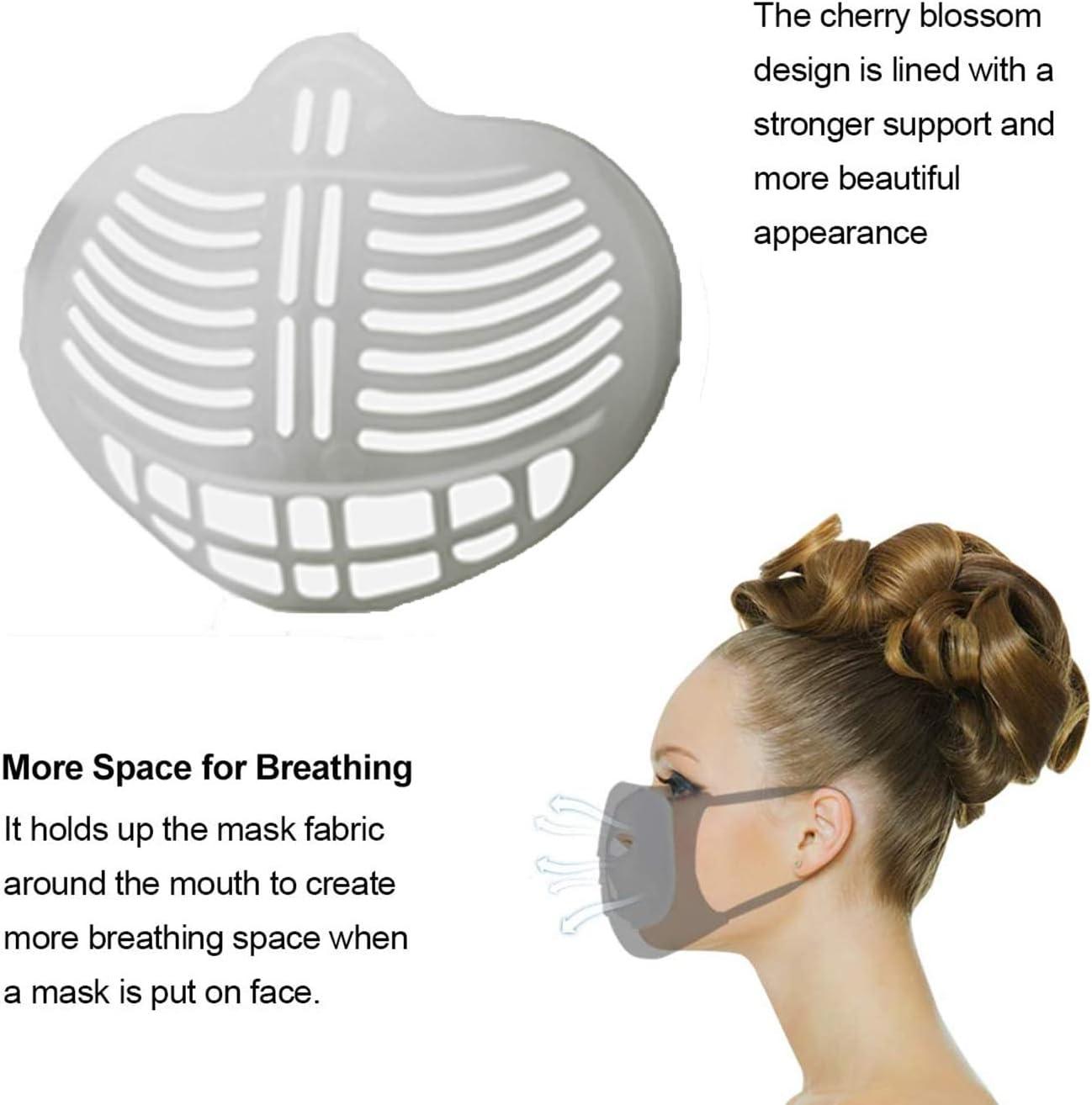 VRTYOC 3D-Innenhalterung f/ür bequemes Atmen,St/ützrahmen unter dem Rahmen,Lippenstift-Schutz,h/ält Stoff von der M/ündung ab,um mehr Atmung zu schaffen,waschbar wiederverwendbar,durchsichtig
