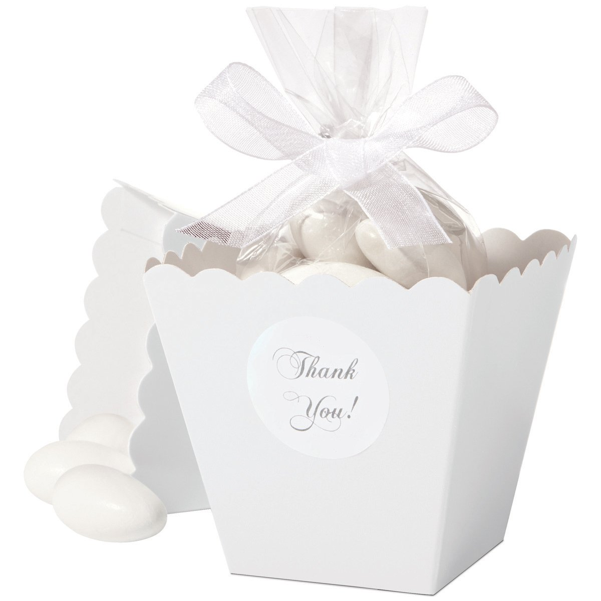 Amazon.com: Wilton 1006-4039 Favor Box Set, White 50 Count: Food ...