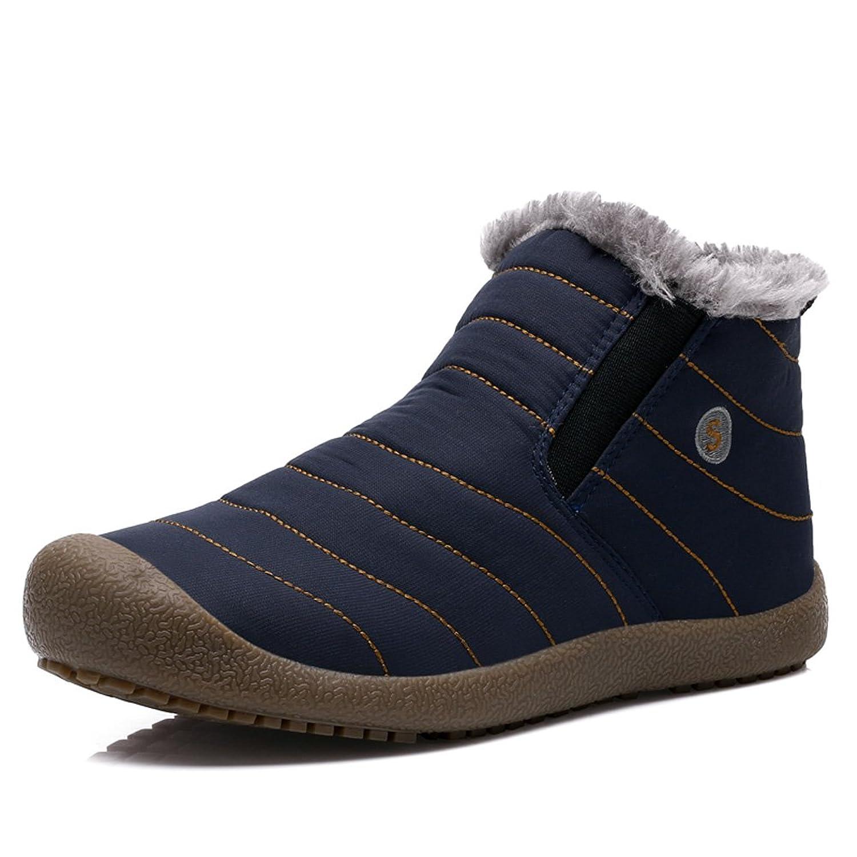 Adreamly Men's Waterproof Winter Warm Snow Boots