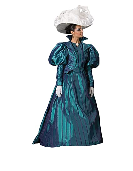 Victorian Dresses, Clothing: Patterns, Costumes, Custom Dresses Womens Blue Victorian Era Dress Theater Costume Large $449.99 AT vintagedancer.com